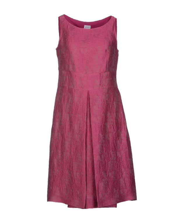 玫红色 ARMANI COLLEZIONI 短款连衣裙