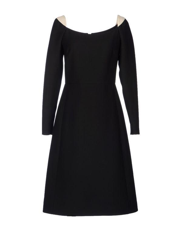 黑色 VALENTINO 及膝连衣裙