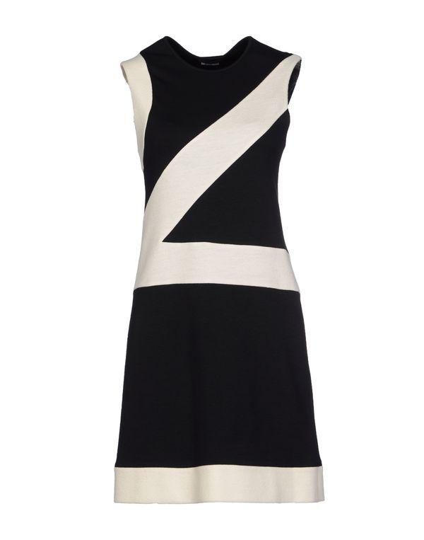 黑色 DIRK BIKKEMBERGS 短款连衣裙