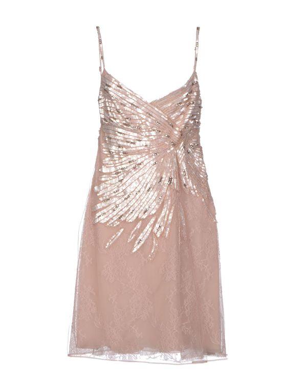 水粉红 VALENTINO 及膝连衣裙