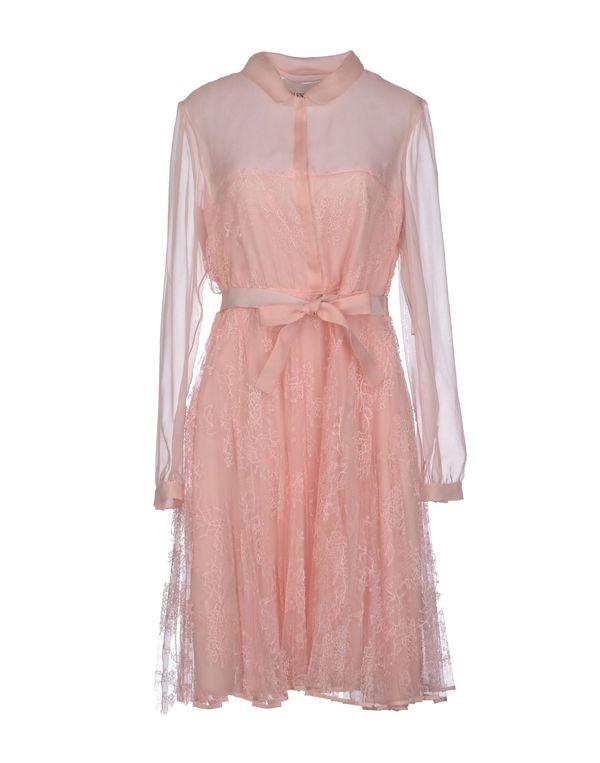 浅粉色 VALENTINO 及膝连衣裙