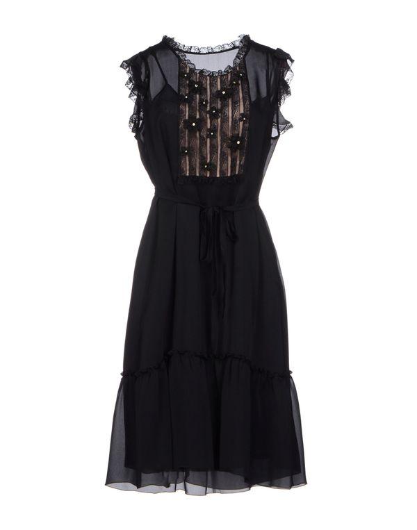 黑色 VALENTINO ROMA 及膝连衣裙