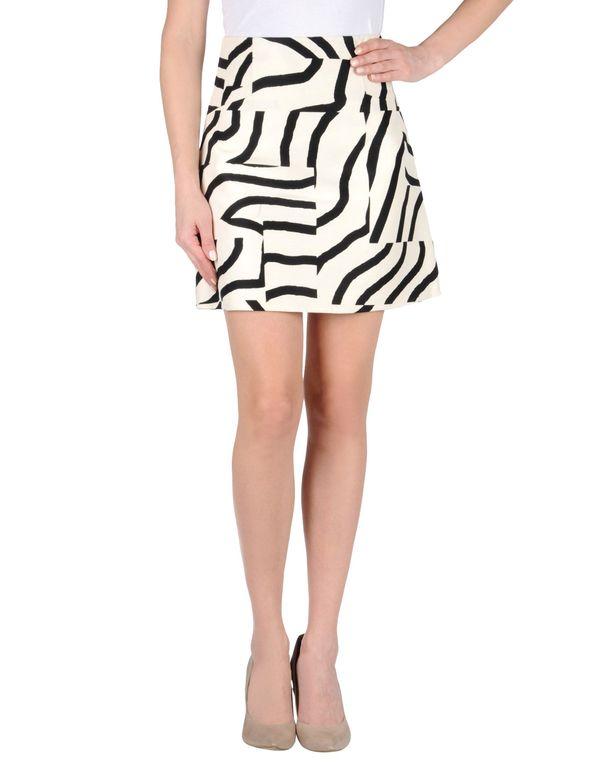 象牙白 TIBI 及膝半裙