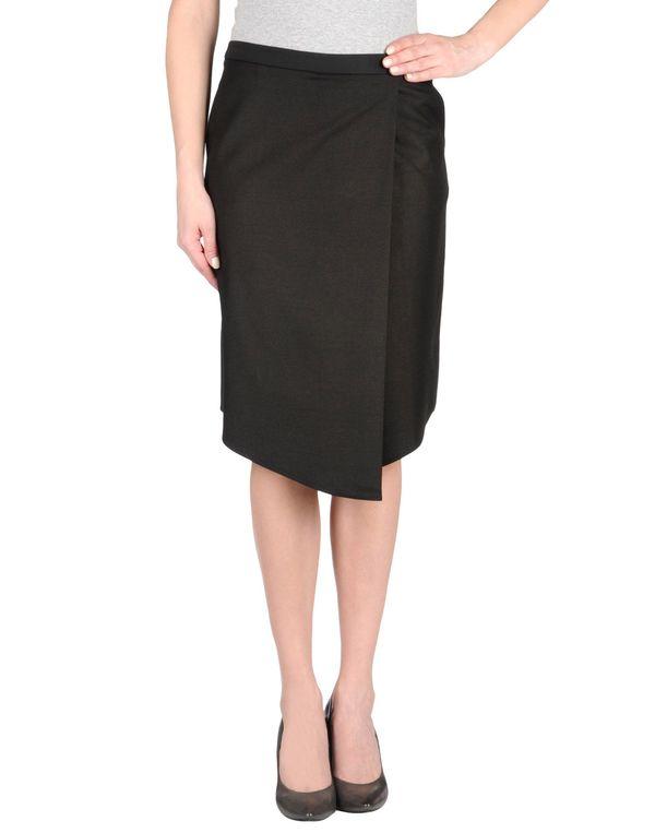 黑色 TIBI 及膝半裙