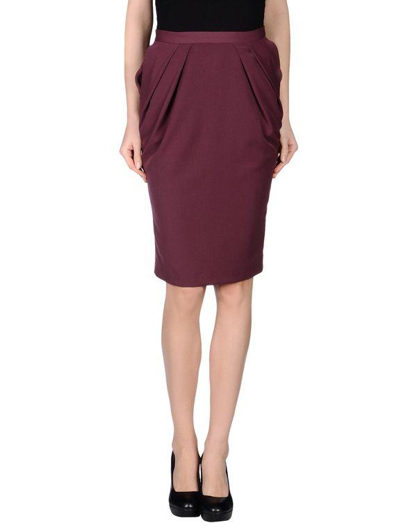 波尔多红 LAVINIATURRA 及膝半裙