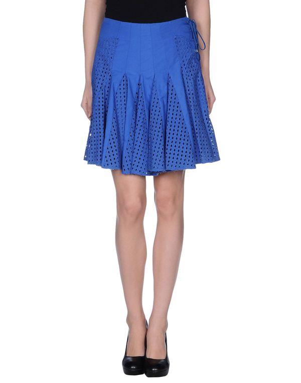 蓝色 PINKO BLACK 及膝半裙