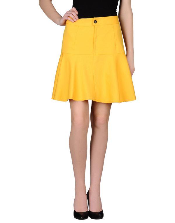 黄色 KLING 及膝半裙