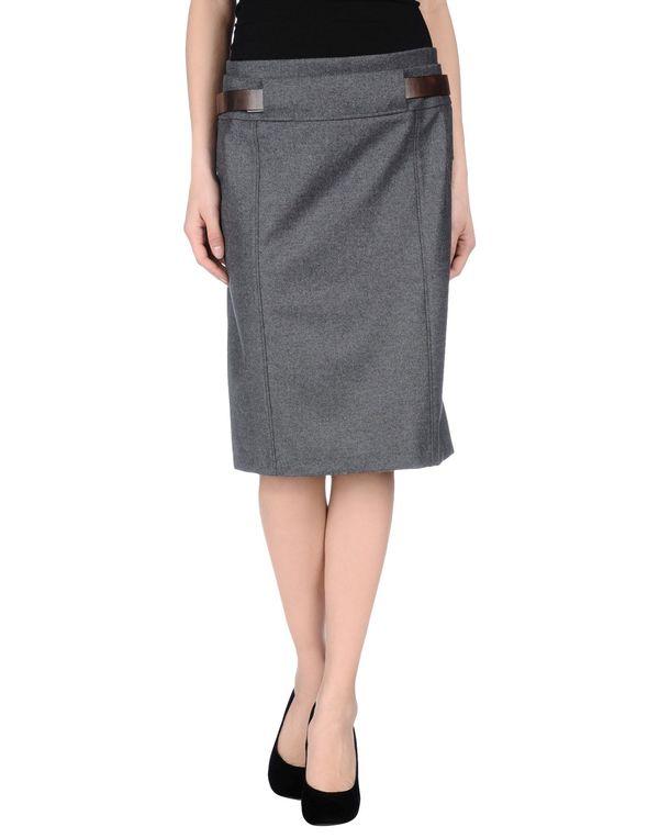 灰色 GUNEX 及膝半裙