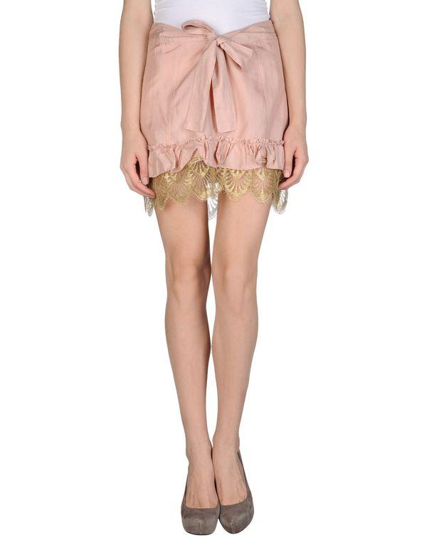 浅粉色 PATRIZIA PEPE 超短裙