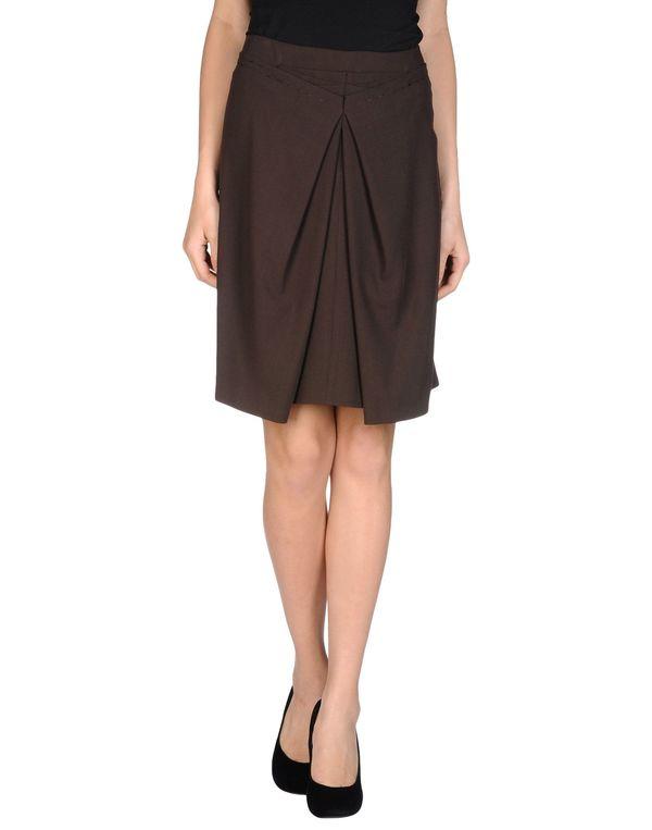 深棕色 LIU •JO 及膝半裙