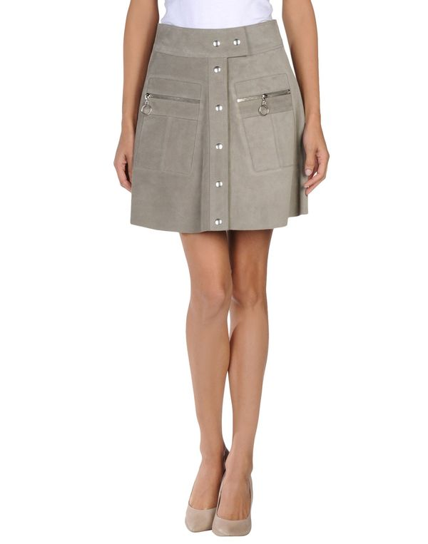 灰色 BALENCIAGA 及膝半裙