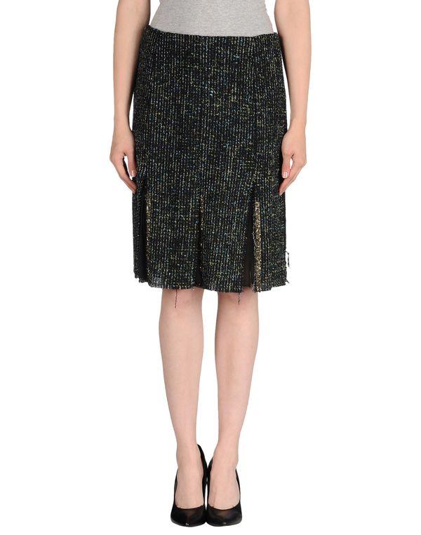 黑色 MSGM 及膝半裙
