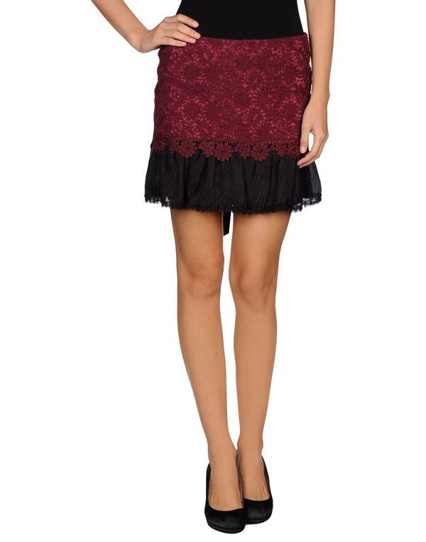 石榴红 REDVALENTINO 超短裙