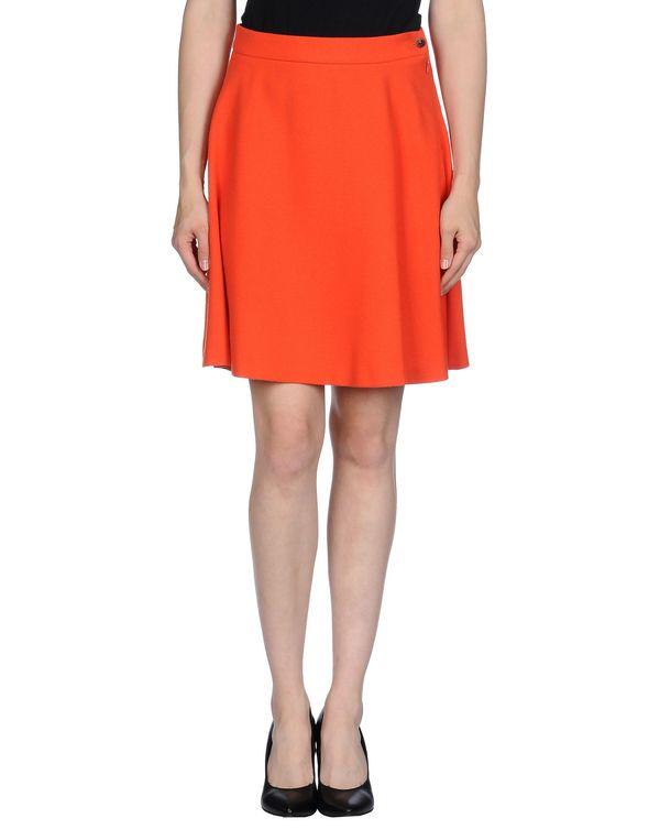 珊瑚红 MAURO GRIFONI 及膝半裙