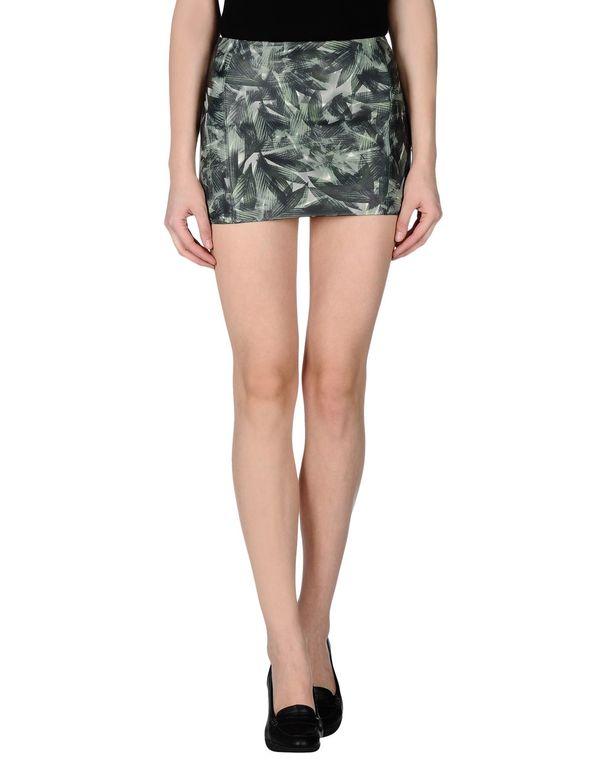 绿色 M.GRIFONI DENIM 超短裙