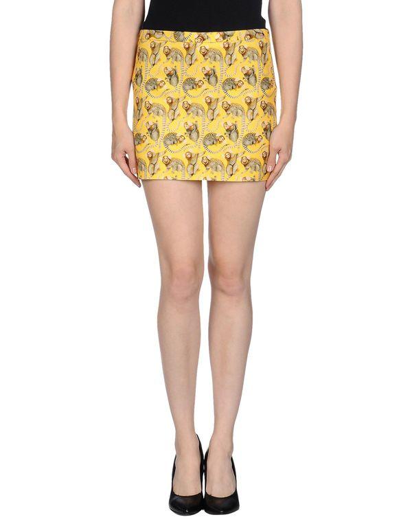 黄色 MAURO GRIFONI 超短裙