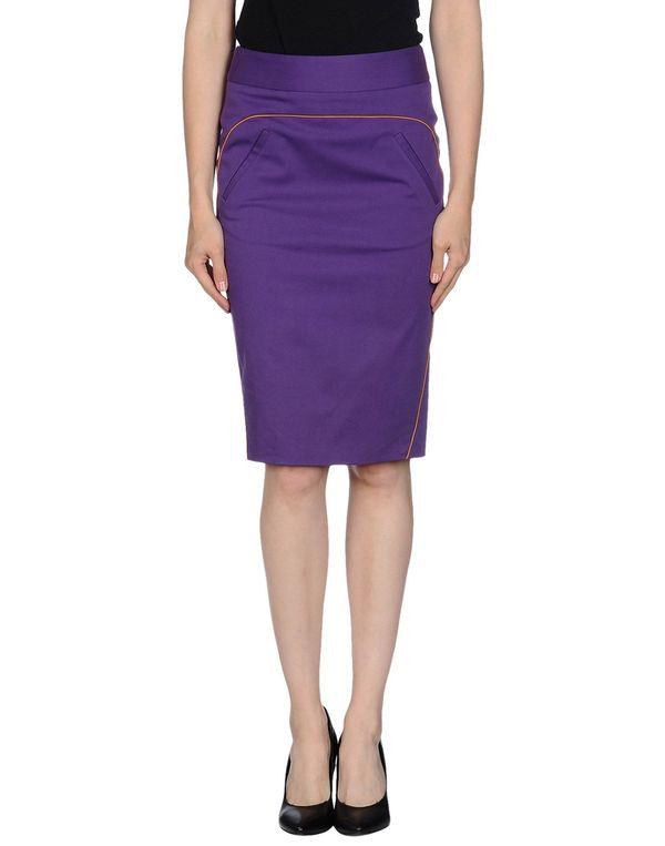 紫色 MAURO GRIFONI 及膝半裙