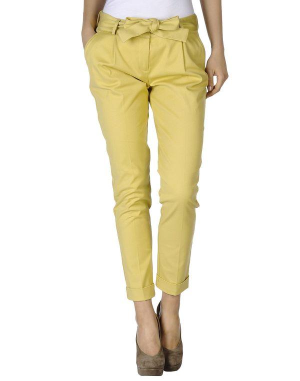 黄色 SCERVINO STREET 裤装