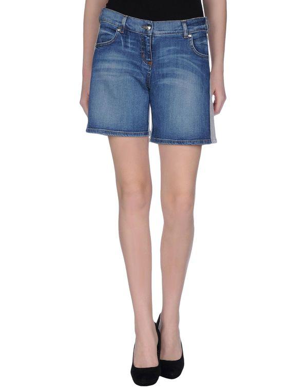 蓝色 LOVE MOSCHINO 百慕大牛仔短裤