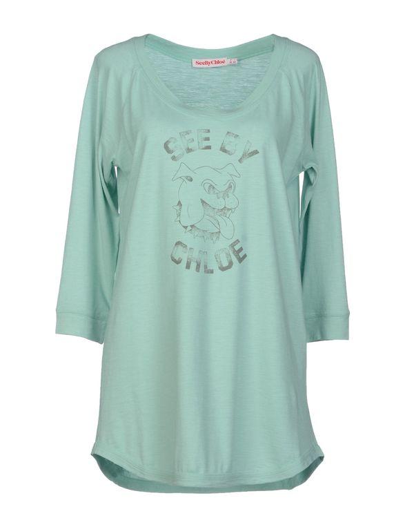 蓝绿色 SEE BY CHLOÉ T-shirt