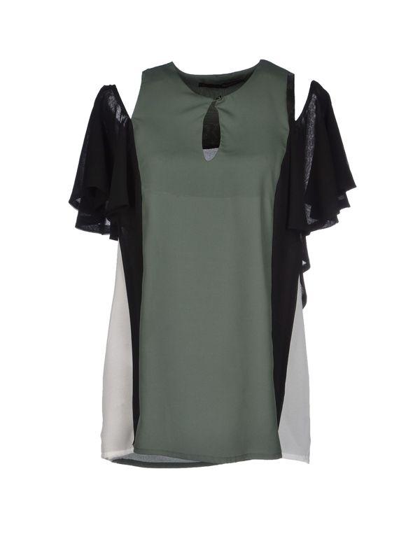 军绿色 ANNARITA N. 女士衬衫