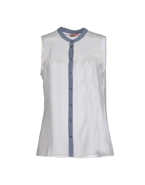 白色 ONLY Shirt