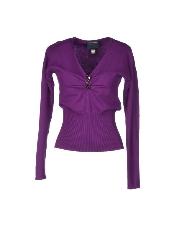 紫色 CLASS ROBERTO CAVALLI 套衫