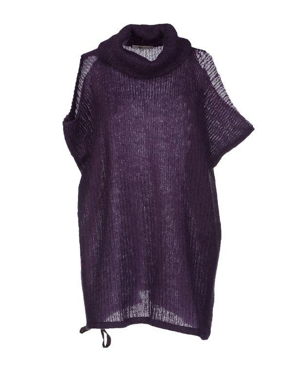 紫色 GOLD CASE 圆领针织衫