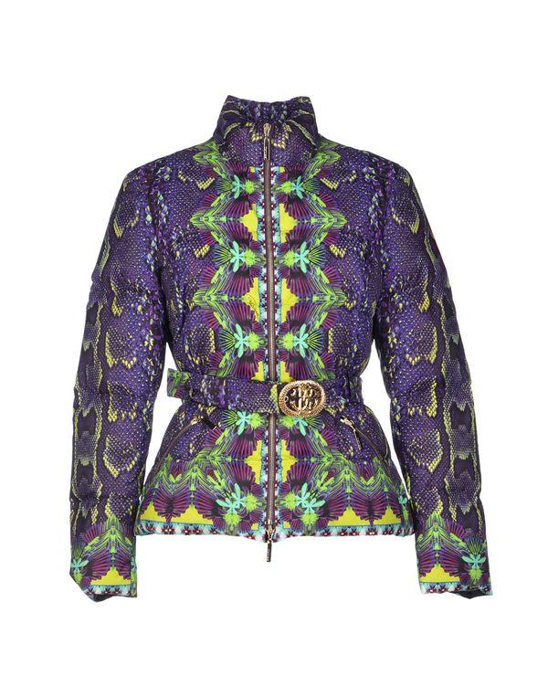 紫色 ROBERTO CAVALLI 羽绒服