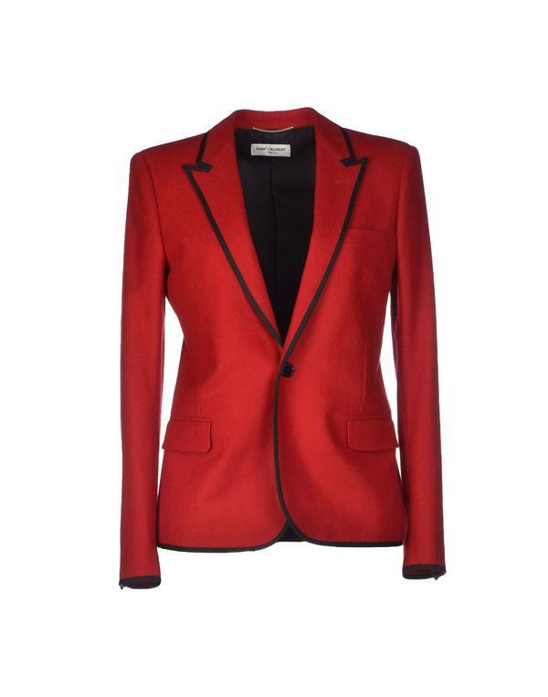 红色 SAINT LAURENT 西装上衣