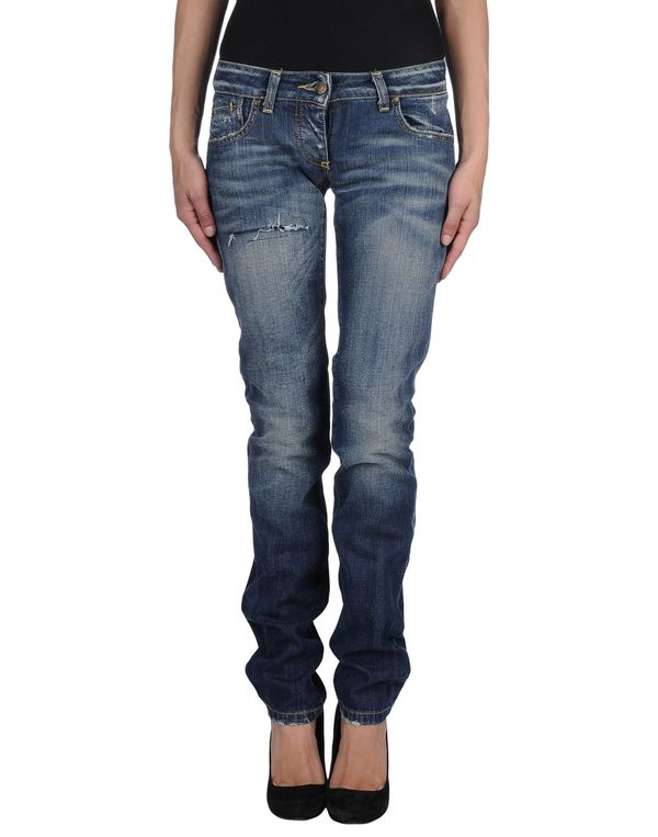 蓝色 ADELE FADO 牛仔裤
