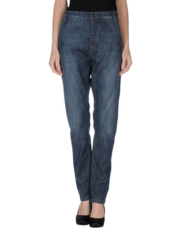 蓝色 DANIELE ALESSANDRINI DENIM 牛仔裤