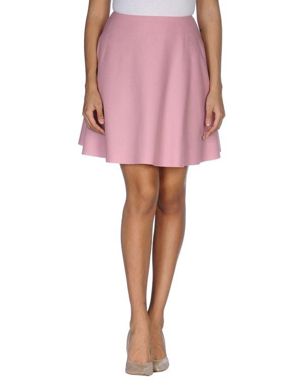 粉红色 MSGM 及膝半裙