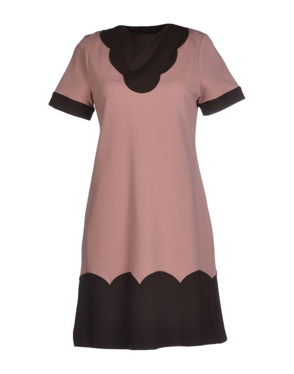 粉红色 LOVE MOSCHINO 短款连衣裙