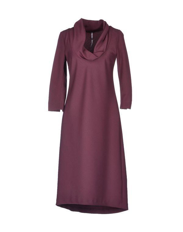 波尔多红 LAVINIATURRA 及膝连衣裙