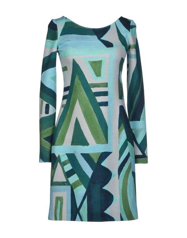 绿色 EMILIO PUCCI 短款连衣裙