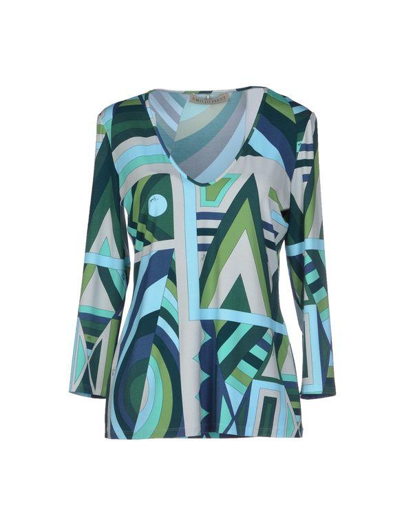 深绿色 EMILIO PUCCI T-shirt