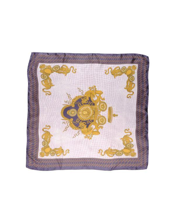 丁香紫 VERSACE 方巾
