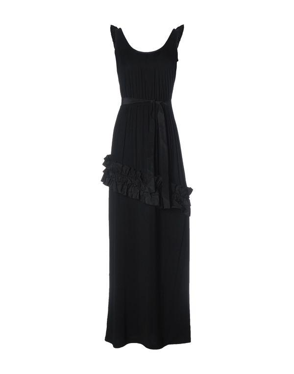 黑色 PINK BOW 长款连衣裙
