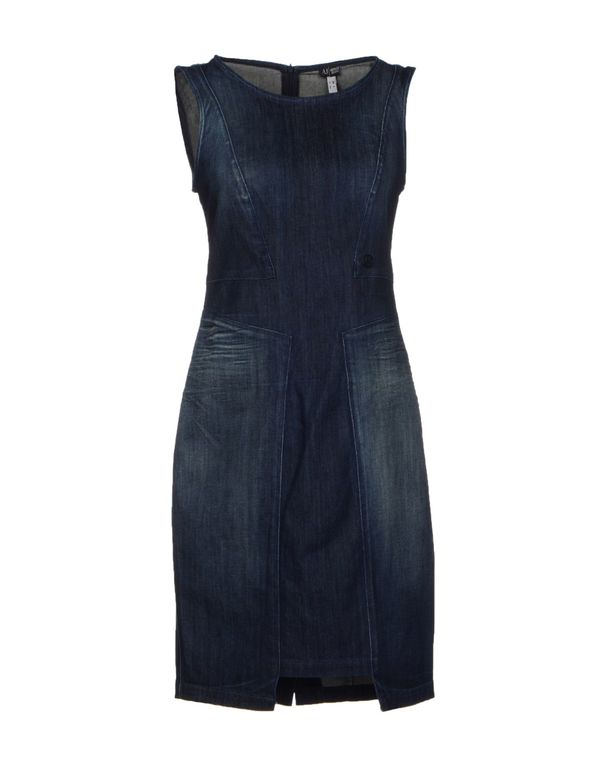 蓝色 ARMANI JEANS 及膝连衣裙