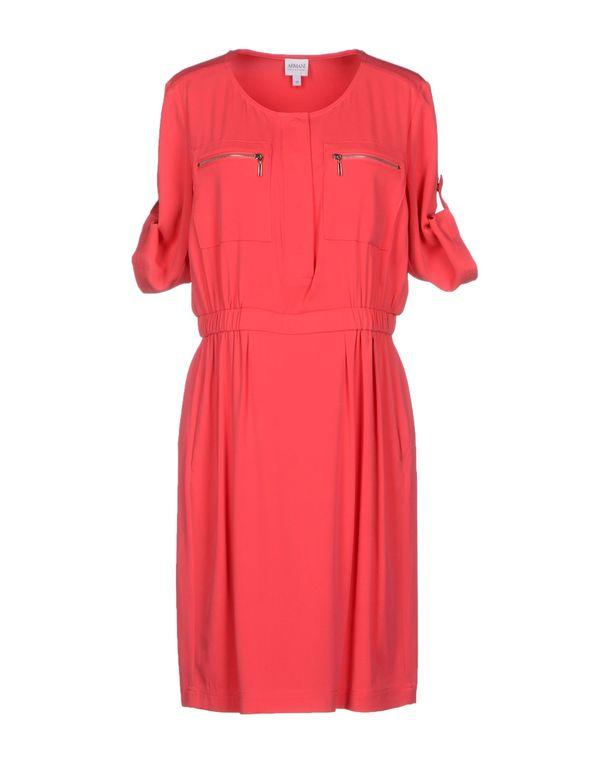 珊瑚红 ARMANI COLLEZIONI 短款连衣裙
