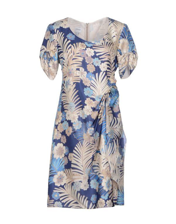 蓝色 ARMANI COLLEZIONI 短款连衣裙