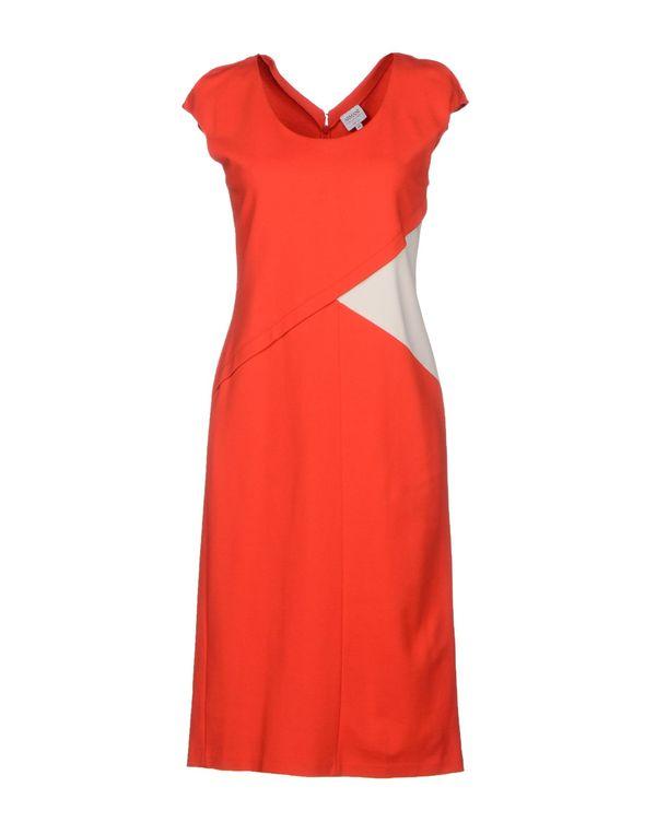 红色 ARMANI COLLEZIONI 及膝连衣裙