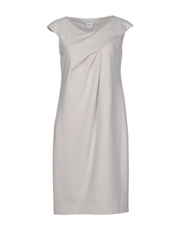 淡灰色 ARMANI COLLEZIONI 短款连衣裙