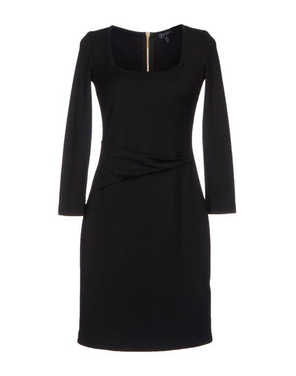 黑色 EMPORIO ARMANI 及膝连衣裙