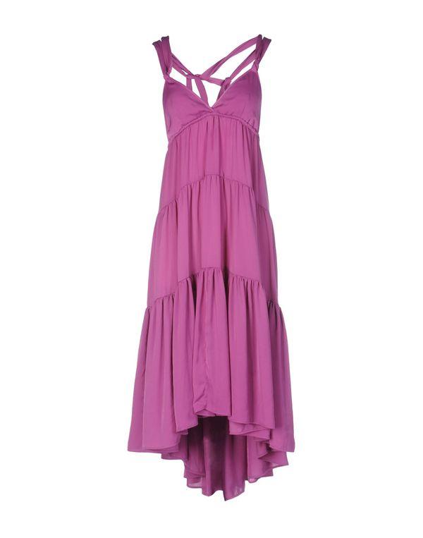 紫红 PINKO BLACK 及膝连衣裙
