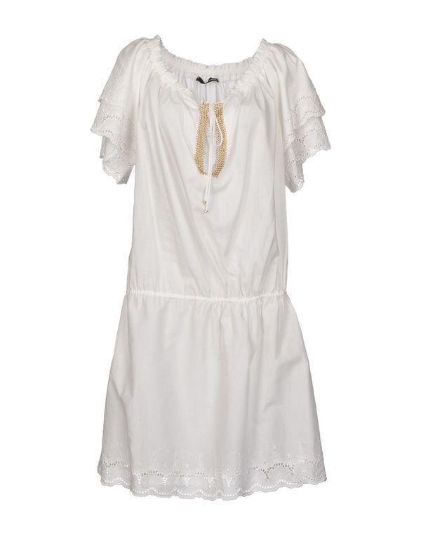 白色 ATOS LOMBARDINI 及膝连衣裙