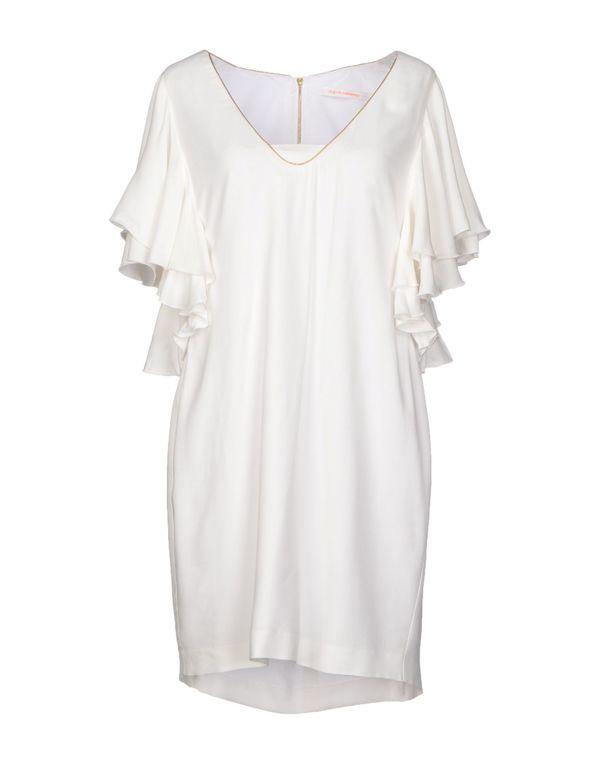 白色 VIRGINIE CASTAWAY 短款连衣裙