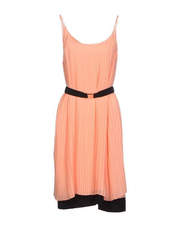 粉红色 ANNARITA N. 及膝连衣裙