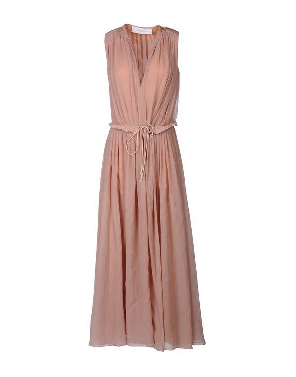 水粉红 CACHAREL 长款连衣裙